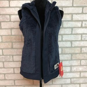 Small Fuzzy North Face Vest